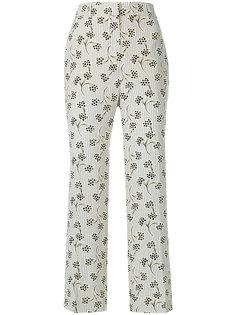 брюки с цветочным принтом  Prada