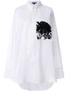 рубашка с вышивкой Ann Demeulemeester