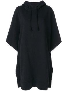 оверсайз-платье толстовка с капюшоном и принтом  Mm6 Maison Margiela