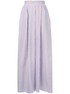 длинная юбка в полоску  Rochas