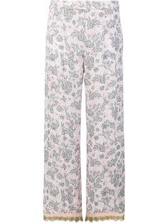пижамные брюки с принтом кроликов Prada