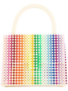 rainbow patterned shoulder bag Delduca