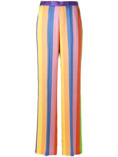 широкие полосатые брюки  Etro