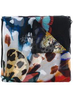 шарф с бабочками Roberto Cavalli