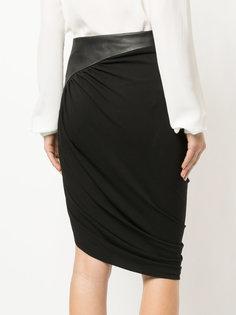 асимметричная юбка со сборным дизайном Alexander Wang