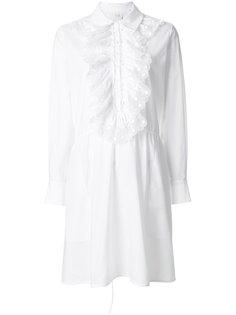 платье с оборкой  Chloé