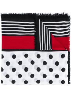 платок с комбинированным принтом Burberry