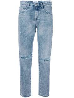 прямые джинсы с рваными деталями One Teaspoon