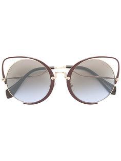"""массивные солнцезащитные очки в оправе """"кошачий глаз"""" Miu Miu Eyewear"""
