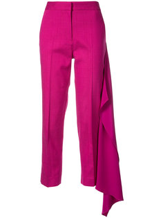 укороченные брюки с драпировкой Hellessy