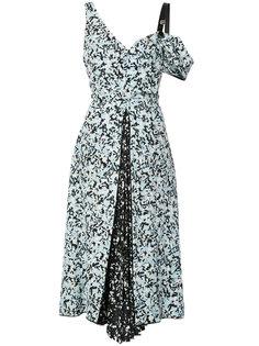 платье на одно плечо с цветочным узором Proenza Schouler