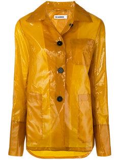 виниловое пальто Jil Sander