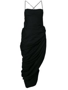 платье с драпировкой сбоку  Jacquemus