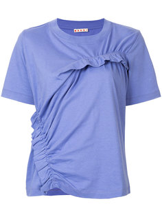 асимметричная футболка со сборками Marni