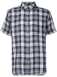 short sleeve plaid shirt Michael Bastian