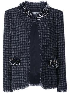 декорированный твидовый пиджак  MSGM