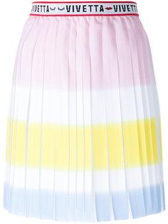 плиссированная юбка с завышенной талией и плиссировкой  Vivetta