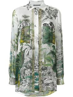 блузка с длинными рукавами и цветочным принтом  Alberta Ferretti