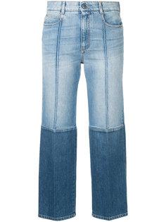 укороченные двухцветные джинсы Stella McCartney
