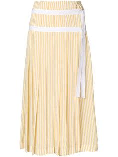 плиссированная юбка с узором в полоску Joseph