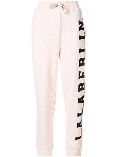 спортивные брюки с принтом-логотипом  Lala Berlin
