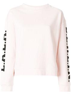 свитер с логотипом на рукавах Lala Berlin