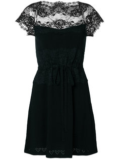 платье с кружевной вставкой  Twin-Set