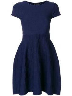 плиссированное короткое платье  Emporio Armani
