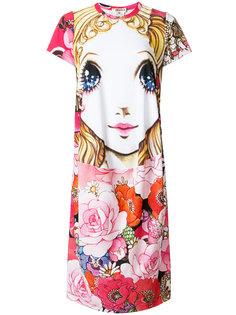 платье-футболка с принтом Manga Comme Des Garçons