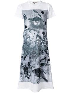 graphic print T-shirt dress Comme Des Garçons