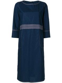 платье шифт с простроченной отделкой Marni