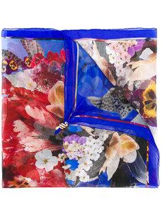 платок с цветочным принтом Roberto Cavalli