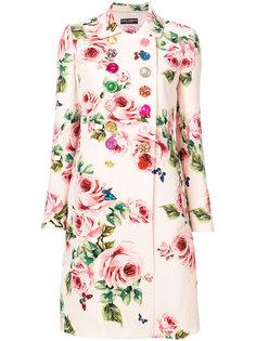 пальто с цветочным принтом  Dolce & Gabbana
