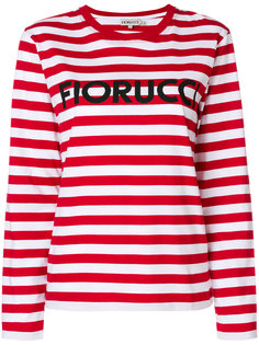 топ в полоску с логотипом  Fiorucci