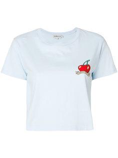 укороченная футболка с вишнями  Fiorucci