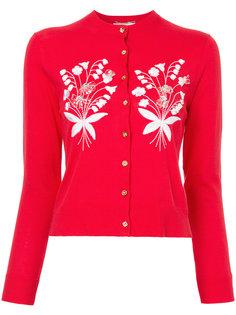 кардиган с цветочной вышивкой Muveil