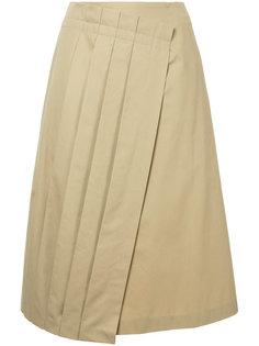 плиссированная юбка миди Muveil