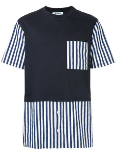 футболка с полосатыми панелями Sunnei