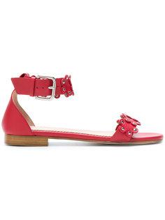 сандалии с цветочной декорацией Red Valentino
