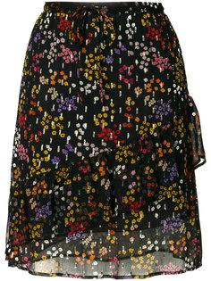 юбка с оборкой и цветочным принтом  See By Chloé