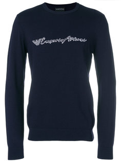 свитер с принтом-логотипом  Emporio Armani