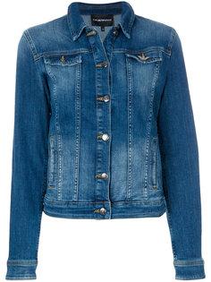 джинсовая куртка с выцветшим эффектом Emporio Armani