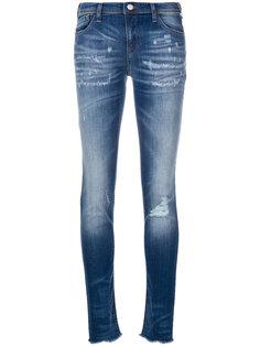 джинсы скинни с рваными деталями Emporio Armani