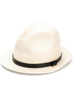 шляпа с отделкой из искусственной кожи  Emporio Armani
