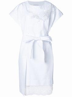 кружевное платье с вырезом  Ermanno Scervino