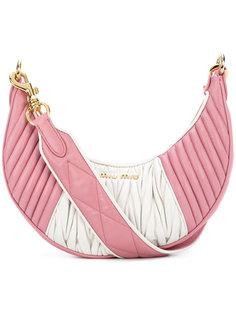 двухцветная сумка-тоут Miu Miu