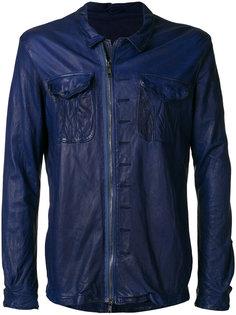 куртка на молнии с эффектом помятости Giorgio Brato