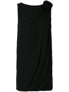асимметричное драпированное платье  Lanvin
