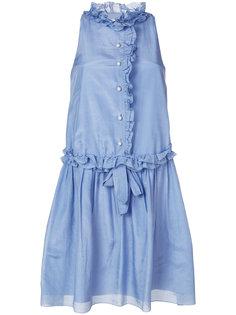 платье без рукавов с рюшами Lanvin