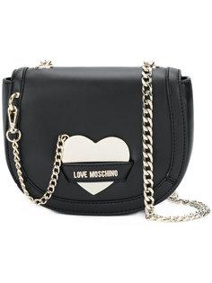 сумка на плечо с пряжкой в виде сердца Love Moschino